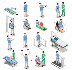 Fisioterapia Isom U00e9trica  U00edcones  U2014 Vetor De Stock