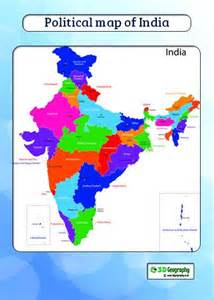 Physical Political Map India