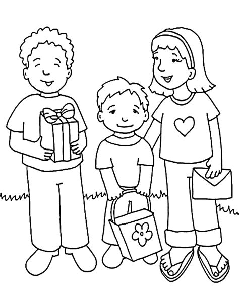 Families Kleurplaat by Amish Family Coloring Pages Coloring Pages