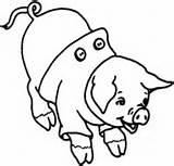 Schwein Pig Coloring Lachendes Ausmalbilder Laughing Piggy sketch template