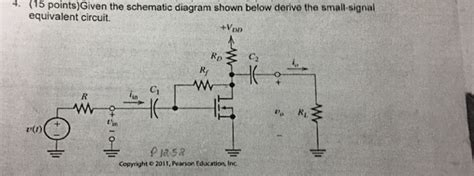 Solved Given The Schematic Diagram Shown Below Derive