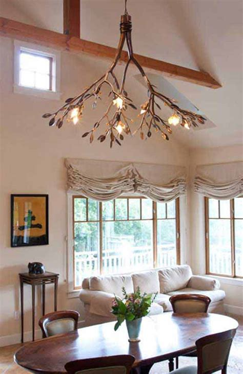 sculptural diy tree branch chandeliers  realize