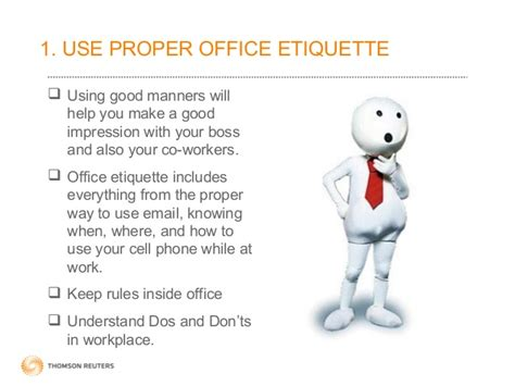 proper etiquette simple ways to get good impress at workplace
