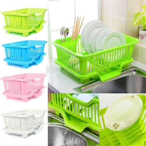 Kitchen Drainer Basket 4 color kitchen dish sink drainer drying rack wash holder