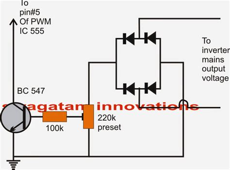 modified sine wave inverter circuit with waveform verified
