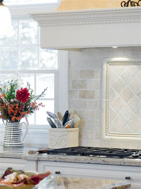 marble tile kitchen backsplash tumbled marble backsplash houzz 7374
