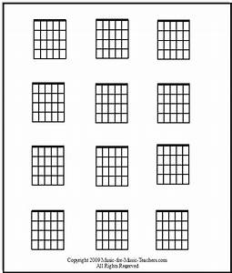 Free Guitar Chord Chart Blanks To Fill In Your Own Chords