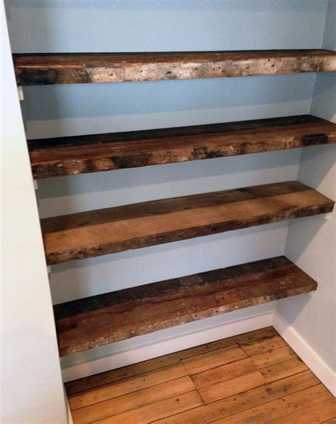 wood shelving 31 magnificent reclaimed wood shelves