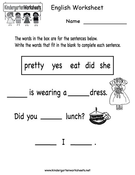 worksheet printable worksheets for kindergarten