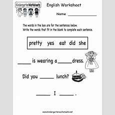 Kids English Worksheets Chapter #2 Worksheet Mogenk Paper Works