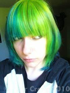 Neon Green Hair on Pinterest