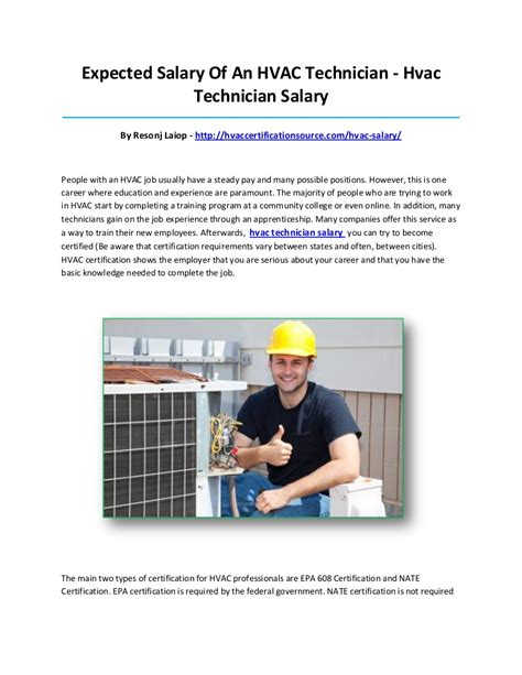 Technician Salary by Hvac Technician Salary