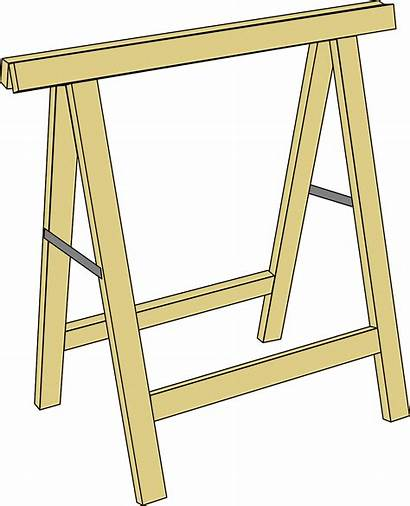 Plans Trestle Table Horse Wood Woodworking Yourself