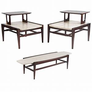 mid century modern living room set coffee and two end With modern coffee table and end table set