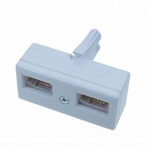 2 Way Bt Telephone Line Phone Socket Splitter Converter Y