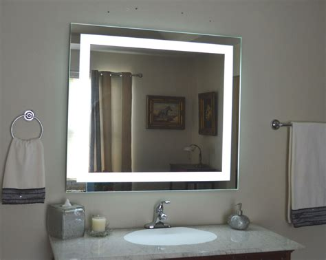 Lighted Bathroom Mirror Wall Mount by Lighted Bathroom Vanity Make Up Mirror Led Lighted Wall