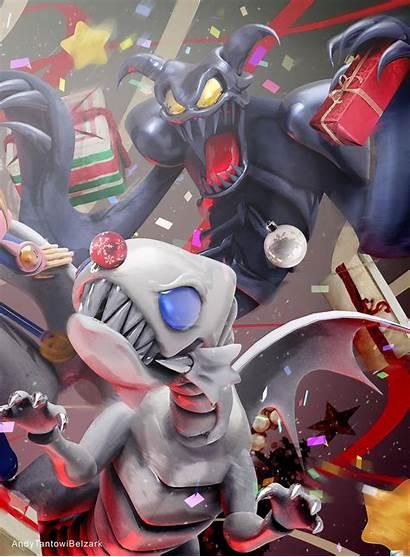 Toon Skull Summoned Eyes Commission Xmas Anime