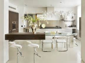 contemporary kitchen furniture interesting glass kitchen table ideas as combination of modern and classic design