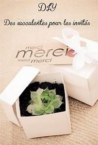 Cadeau De Mariage : cadeau original et pas cher pour vos invit s mariage des succulentes cadeaux invit s ~ Teatrodelosmanantiales.com Idées de Décoration
