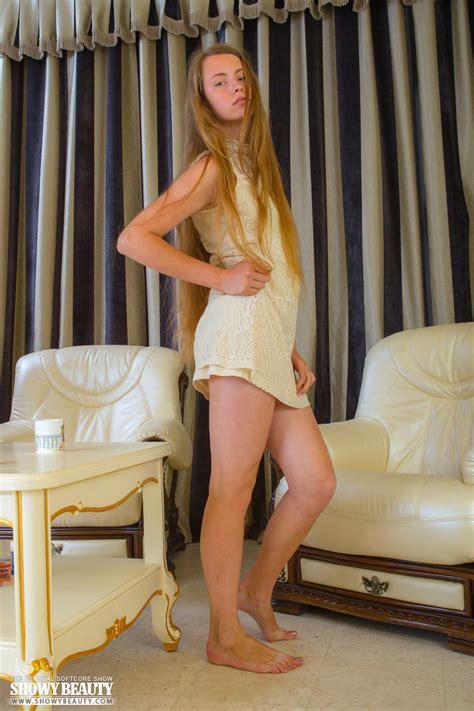 Long Blond Hair Sexy Posing Nakedteens Photos