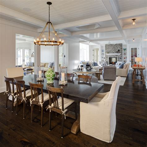 Ideas For Old Kitchen Cabinets - farm house table dining room beach with beam ceiling chandelier cottage beeyoutifullife com
