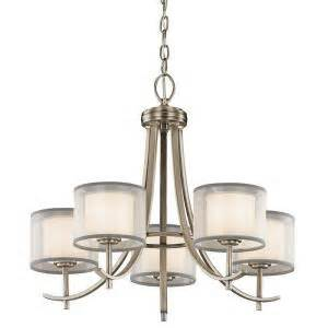 hton bay 5 light antique pewter ceiling chandelier