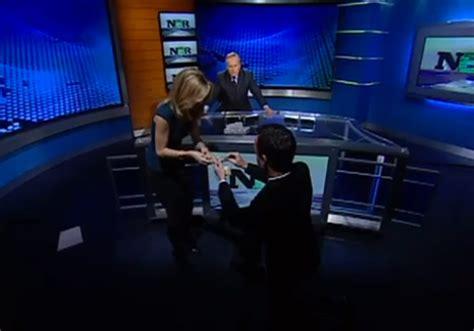 cnbc reporter courtney reagan   surprise proposal
