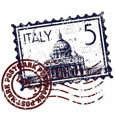 italy stamp icon vector  antonyesse  vectorstock
