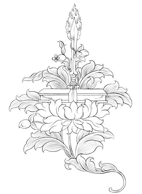 Manjushri (Boddhisatva of Wisdom holds a lotus that