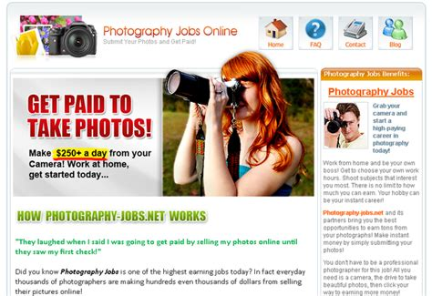 Photography Jobs Online  Start Making $10,000++ A Month