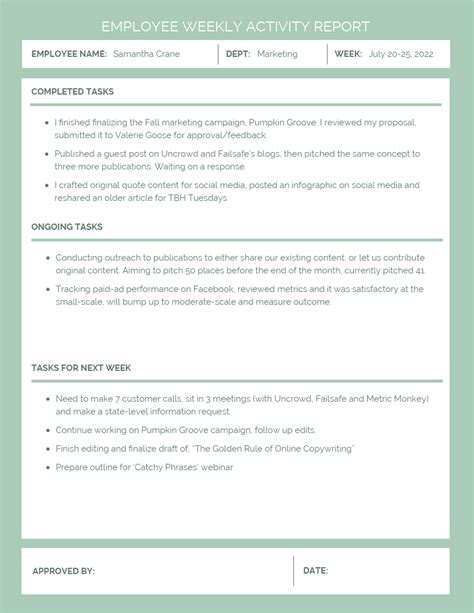 business report templates   business