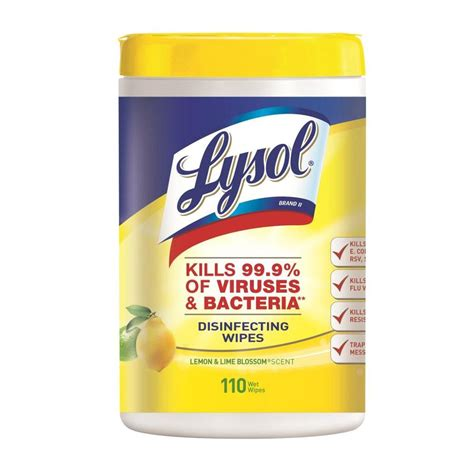 LYSOL 110 Count Lemon/Lime All-Purpose Cleaner Wipes at