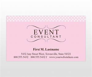 Event consultant party planner business cards promotion for Sample event planner business cards