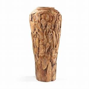 Grand Vase Design : grand vase racine en teck vase en bois exotique ~ Teatrodelosmanantiales.com Idées de Décoration