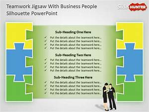 Free Teamwork Powerpoint Diagram With Jigsaw Illustration