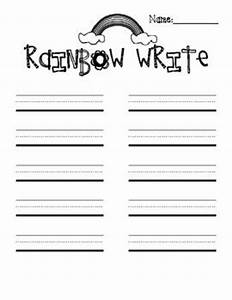 best 25 rainbow writing ideas on pinterest With rainbow writing spelling words template