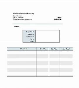 Sample Invoice Template For Consulting 9 Consultant Consulting Invoice Templates Free Word