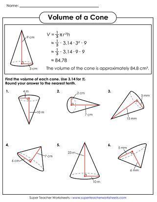volume of cone worksheet volume worksheets cones math quotes volume worksheets worksheets math quotes
