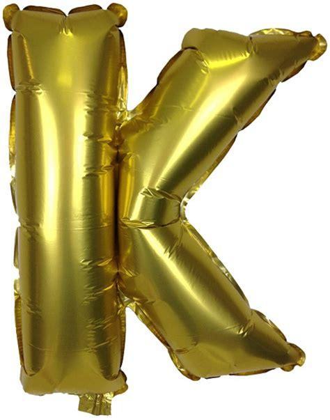 mylar letter balloons 16 quot foil mylar balloon gold letter k 16043