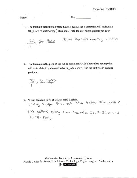 unit rates worksheet 7th grade worksheets tutsstar