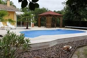 Amenagement Autour Piscine Photos : amenagement autour piscine hors sol digpres ~ Mglfilm.com Idées de Décoration