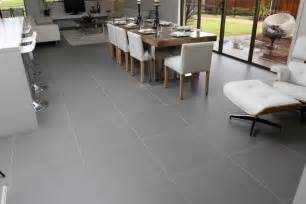 Groutless Ceramic Floor Tile by Steel Grey Design Tiles