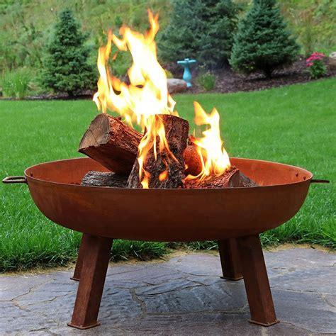 wood burning pit sunnydaze cast iron wood burning pit bowl