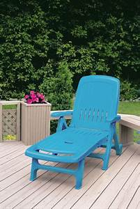 Meuble Plastique Exterieur : peinture plastique julien sur chaise longue de jardin ~ Teatrodelosmanantiales.com Idées de Décoration