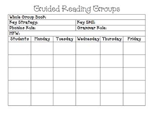 Guided Reading Planning Sheet  Like Parts Of It  School Stuff  Pinterest  Guided Reading