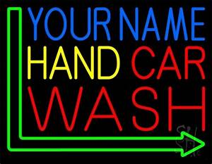 Custom Red Car Wash Neon Sign Custom Neon Signs