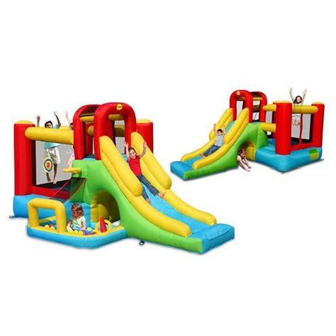 happy hop ch 226 teau aire de jeux gonflable 224 air puls 233 4 en 1 achat vente aire de jeux