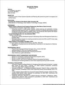 resume format for experienced it professionals sle resume for it professional experience free sles exles format resume