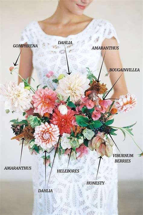 Bouquet Recipe A Bridal Bouquet Of Dahlias In Fall Hues