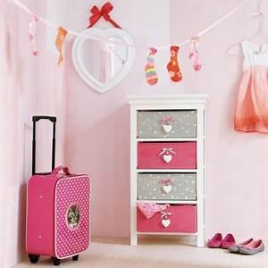 mot cle rangement fille decorer With meuble pour petite chambre